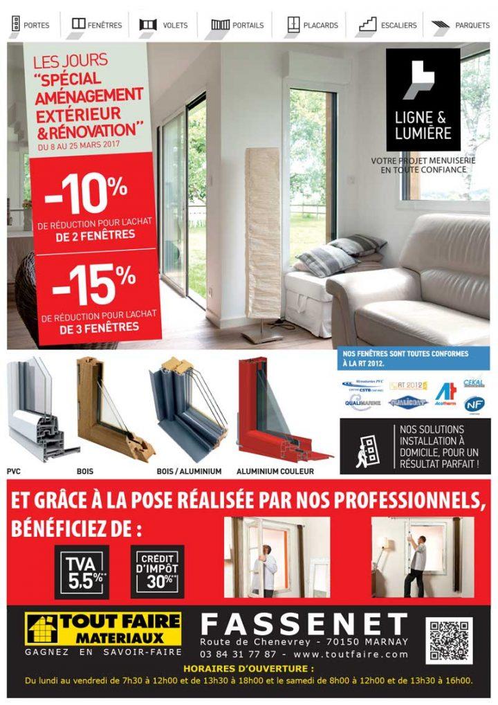 Les jours «spécial aménagement extérieur & rénovation» chez Tout Faire Fassenet