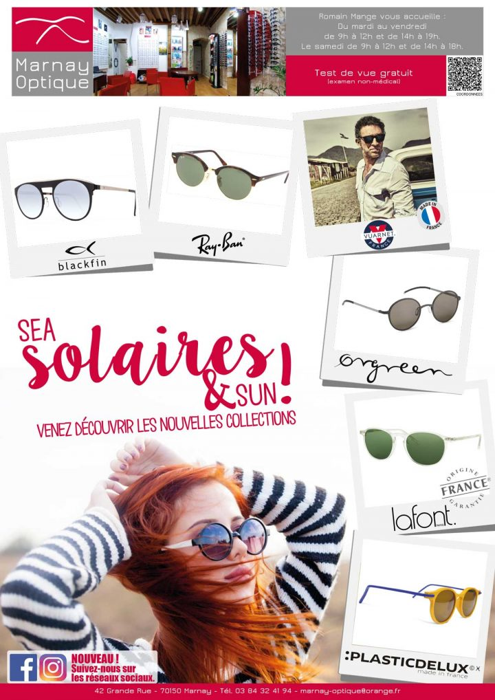 Sea Solaires & Sun chez Marnay Optique