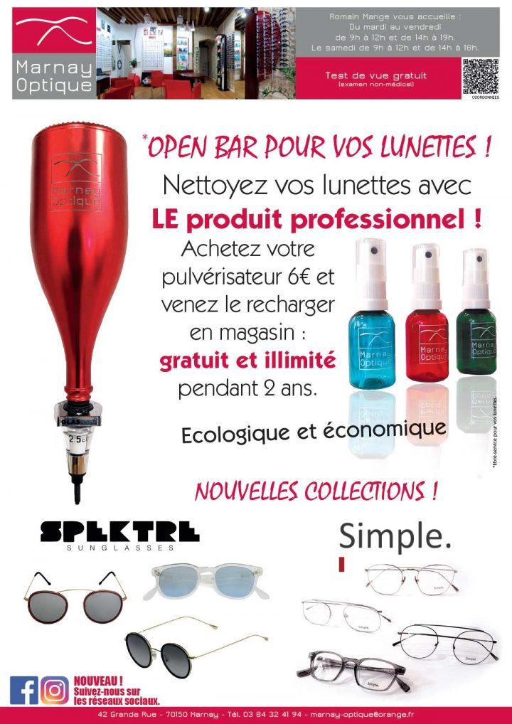 Vos lunettes ont droit à «l'Open Bar» !