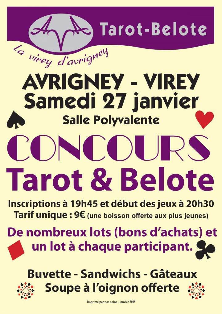 Coucours de Tarot et Belote