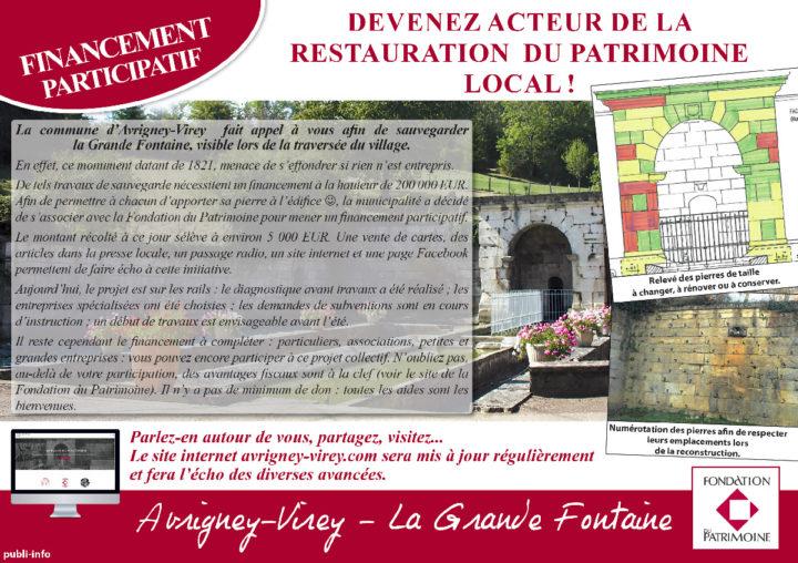 Le TamTam n°74 : financement participatif pour le patrimoine local à Avrigney-Virey