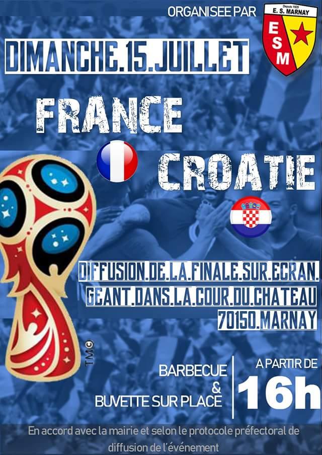 Coupe du monde France-Croatie : rendez-vous dimanche….